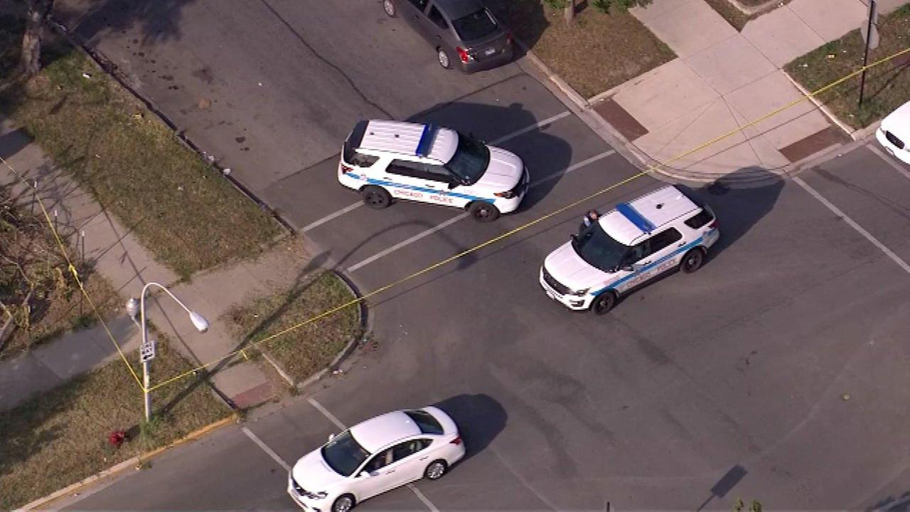 A 30-year-old man was shot in the head at 3:38 p.m. in the West Garfield Park neighborhood on the West Side.
