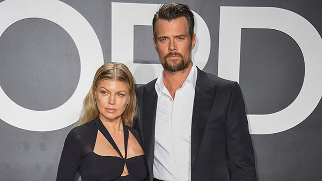 FILE - In this Feb. 20, 2015 file photo, singer Fergie, left, and actor Josh Duhamel arrive at the Tom Ford Autumn/Winter 2015 Womenswear Presentation in Los Angeles.