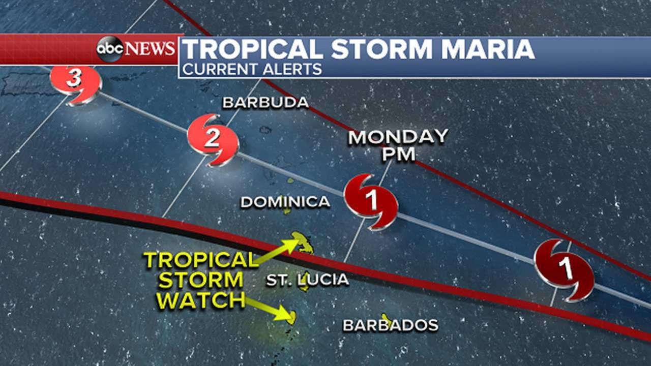 Tropical Storm Maria threatens Caribbean