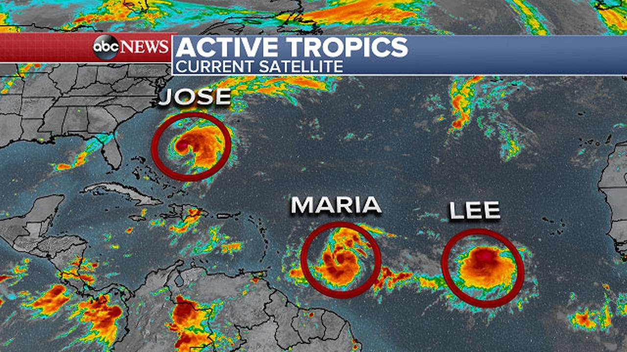 Maria following Irmas path is now a Category 1 hurricane
