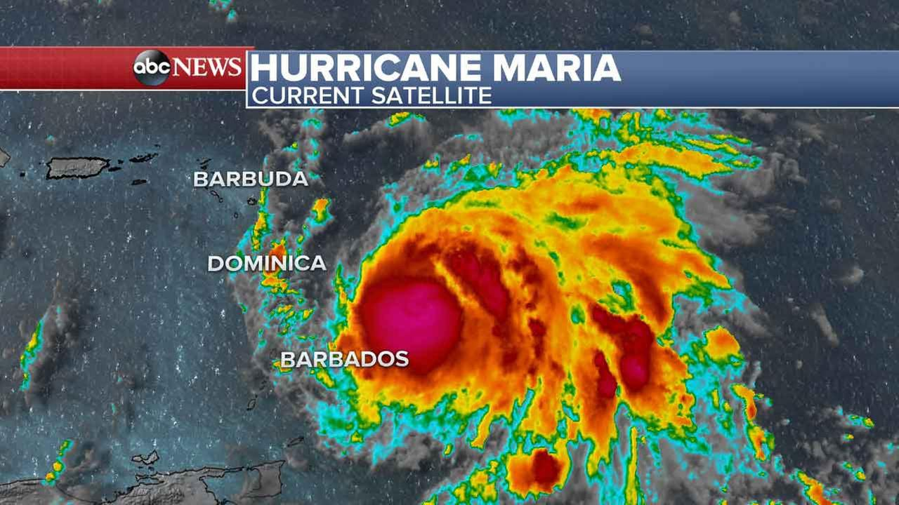 New Hurricane Maria growing threat to Irma-slammed Caribbean