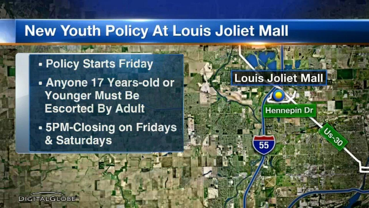 Joliet mall announces new teen supervision policy