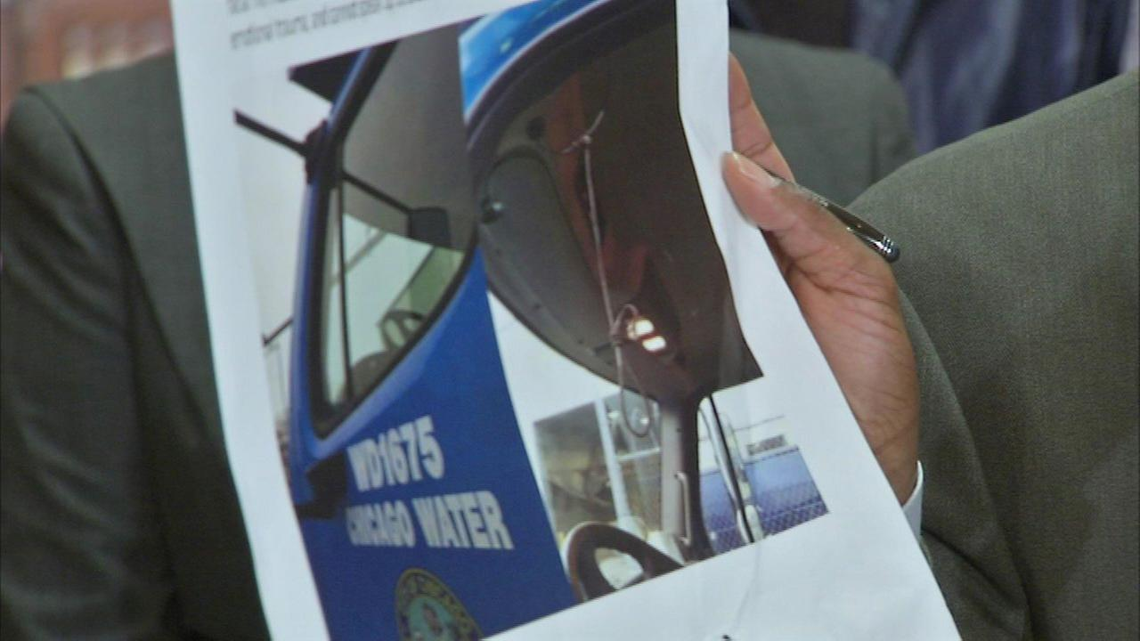Alderman David Moore alleges that a photo shows a noose inside a city water department truck.