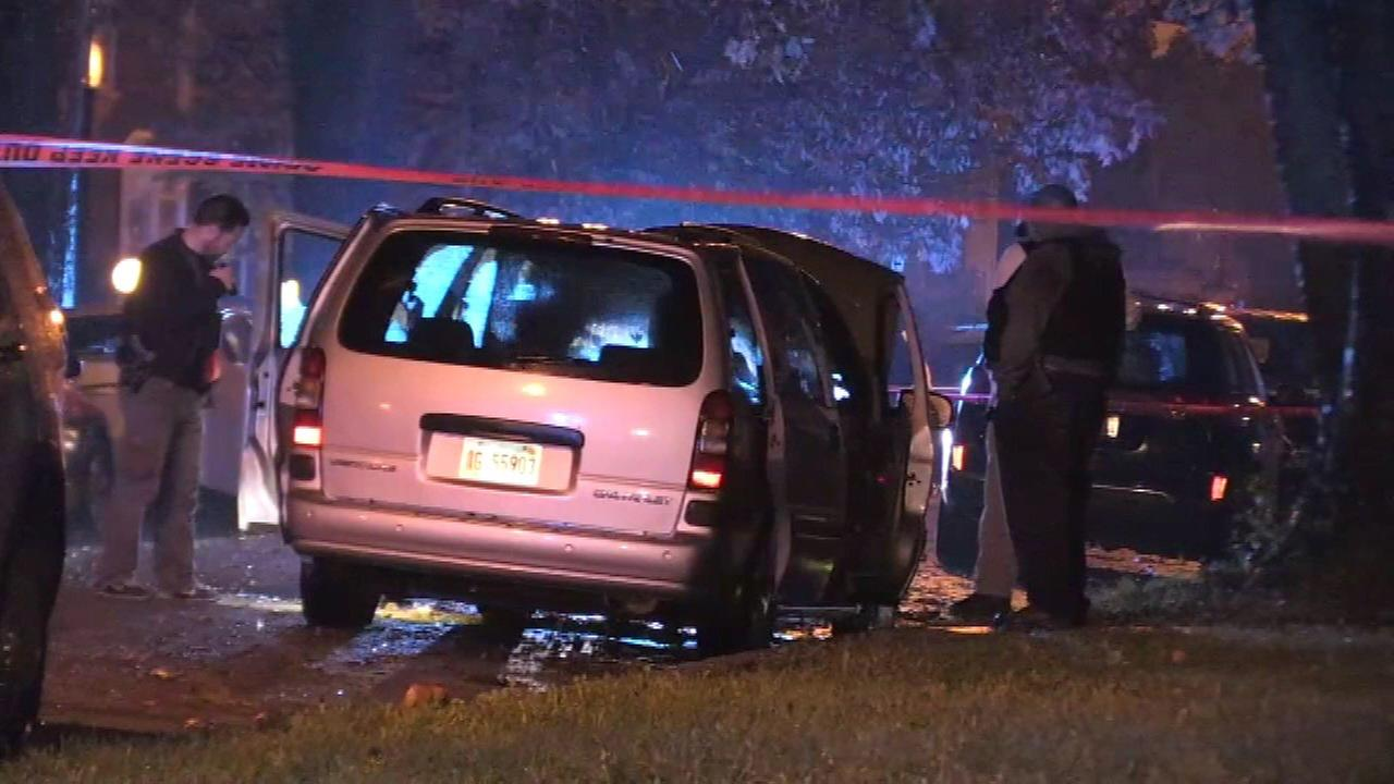 Two teenagers were shot and killed in the 8900-block of South Union Avenue Saturday night.