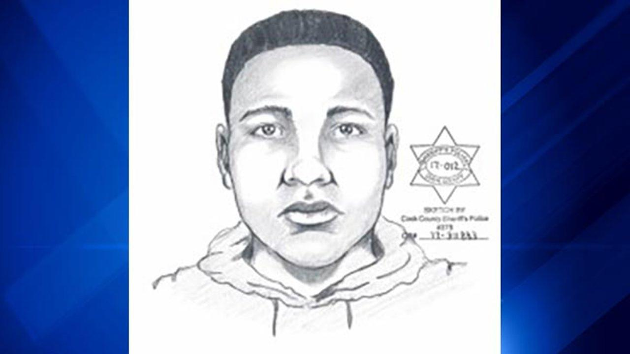 Composite sketch of suspect in Lansing robbery and sex assault.