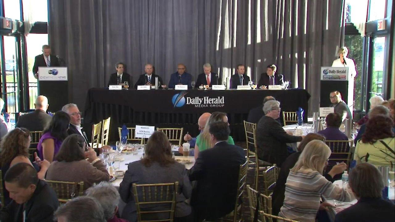 Democratic candidates in the race for Illinois governor squared off Wednesday in a forum hosted by ABC 7, the Daily Herald and the Daily Herald Business Ledger.
