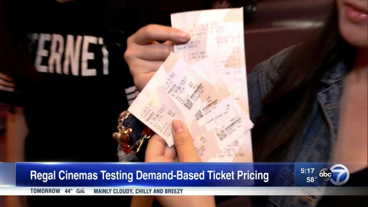 Regal Cinemas is planning to experiment with ticket prices based on demand.