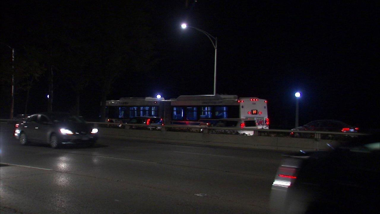 7 injured when CTA bus strikes car on Lake Shore Drive