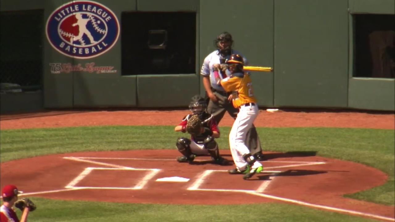 Jackie Robinson West 2 games from series final, watch party Sunday