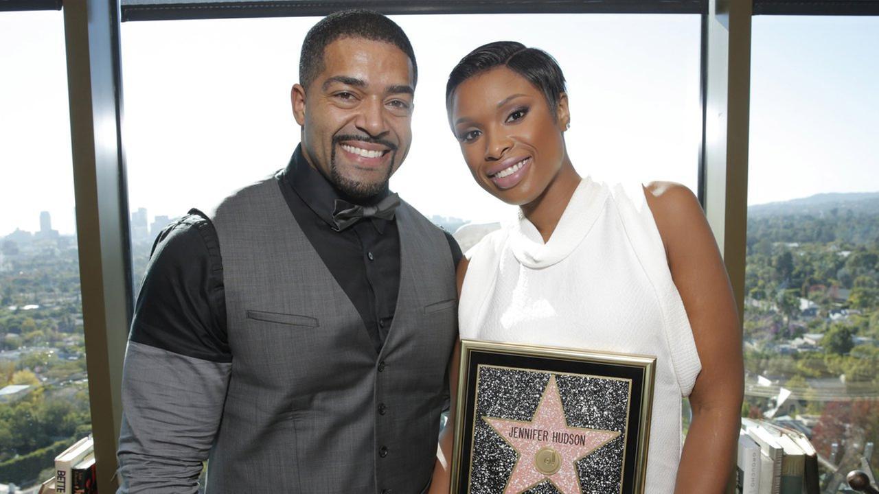 David Daniel Otunga, Sr and Jennifer Hudson attend Fox Searchlights Jennifer Hudson Star on Walk of Fame Luncheon at Soho House on Wednesday, November 13, 2013 in Los Angeles.