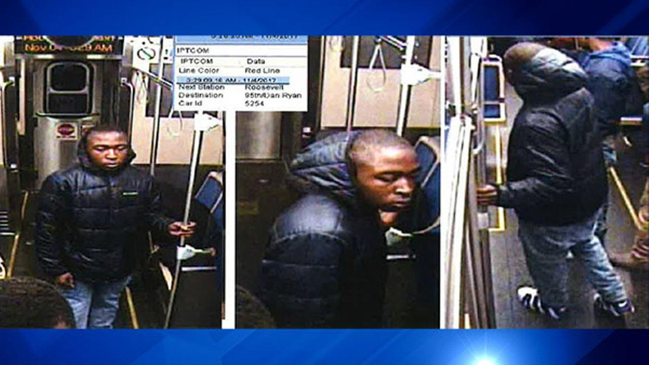 Police released surveillance photos Friday of a group of men suspected of committing several Near North Side robberies.