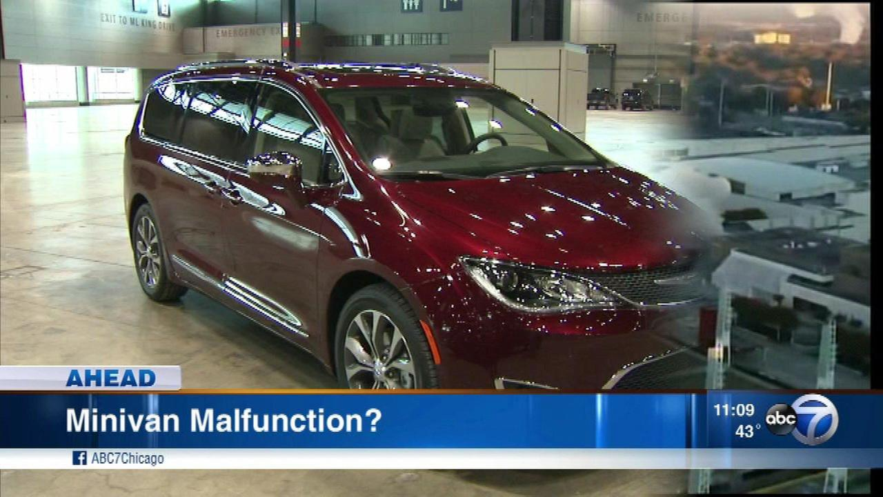 The Center for Auto Safety called for an investigation and recall of 2017 model year Chrysler Pacifica minivans.