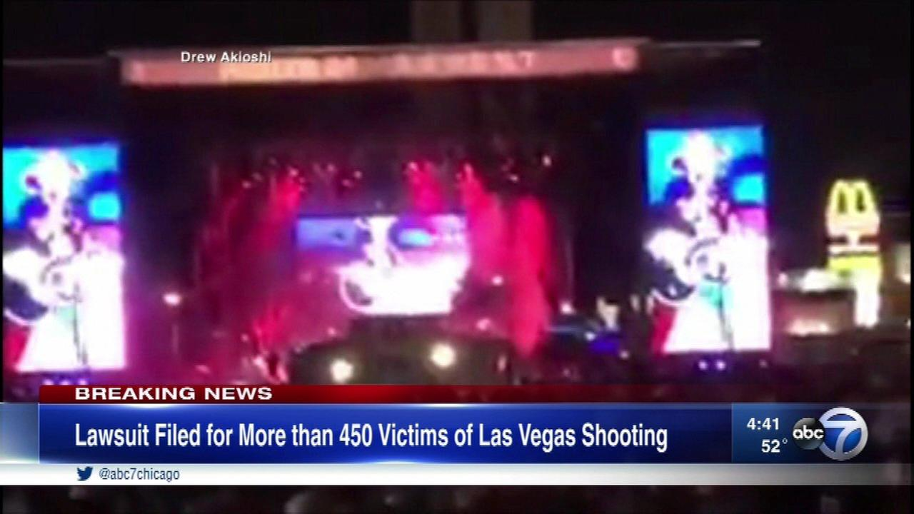 Lawsuits are being filed on behalf of 450 plaintiffs affected by the mass shooting in Las Vegas in October.