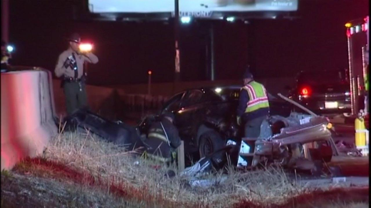 Police investigate a fatal crash on I-57 in Posen Friday morning.