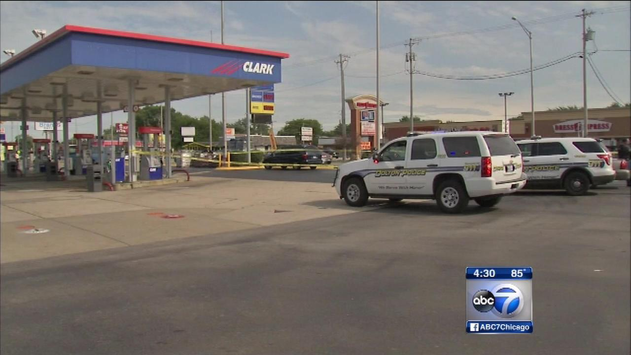 Police say a teenager was shot in the leg in south suburban Dolton Tuesday afternoon.