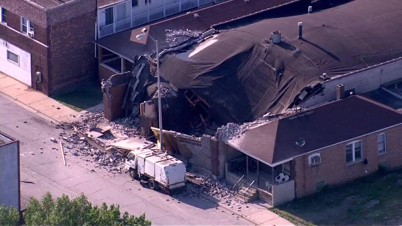 Investigators are trying to determine what caused a building to collapse in northwest Indiana.