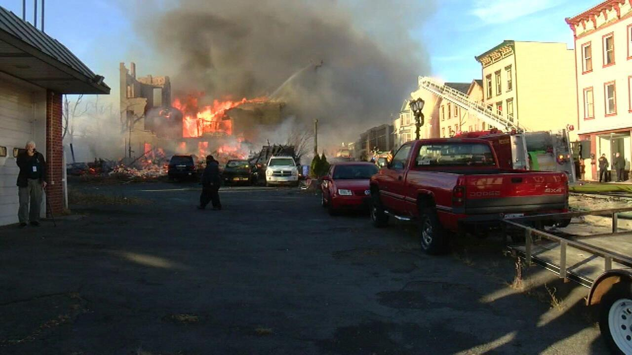 Man trying to copy TV show starts massive NY fire