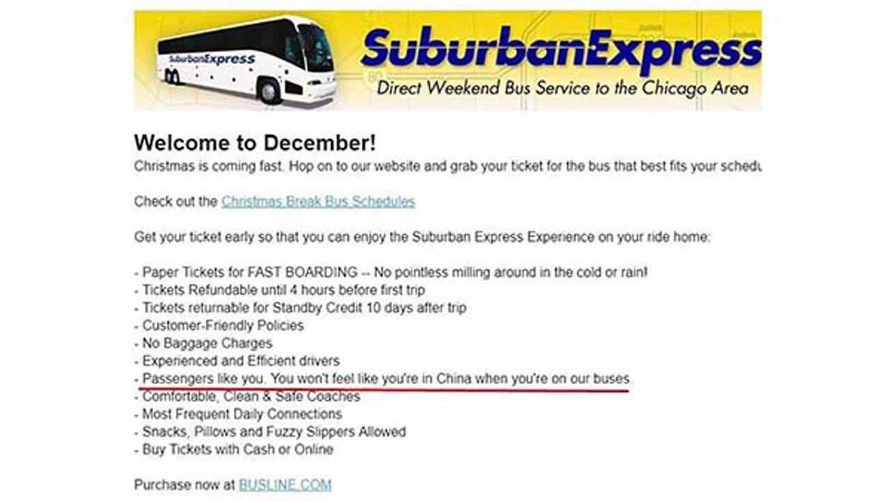 Suburban Express Chicago Bus Service
