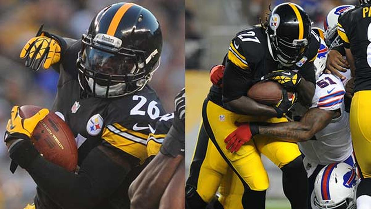 Left: Running back LeVeon Bell / Right: Pittsburgh Steelers running back LeGarrette Blount