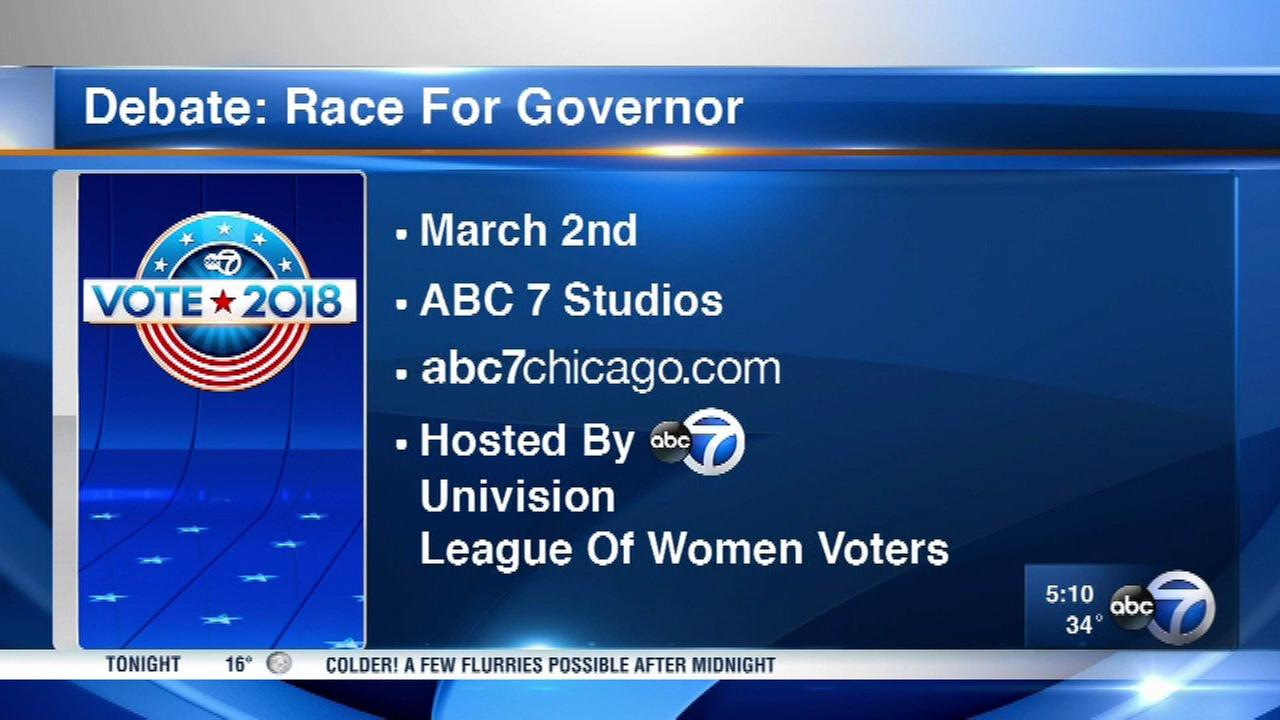 Democratic candidates for Illinois governor to debate March 2