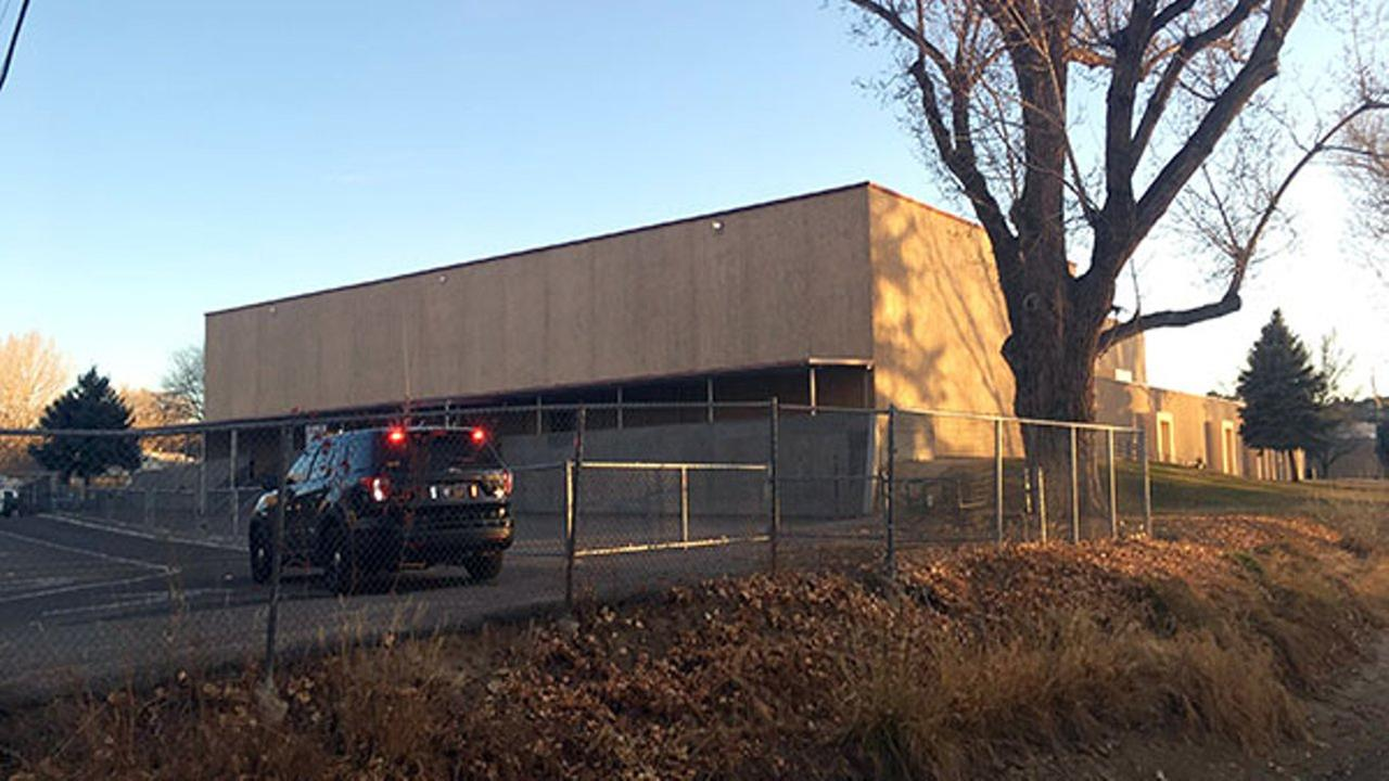 Aztec High School is shown in Aztec, N.M., Thursday, Dec. 7, 2017. Students hid in their classrooms, some behind locked doors or in closets, as a gunman opened fire.