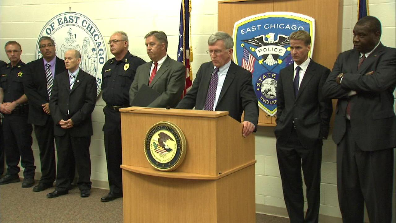 Authorities say the street gang originated in Chicago and crimes were committed on both sides of the state line.