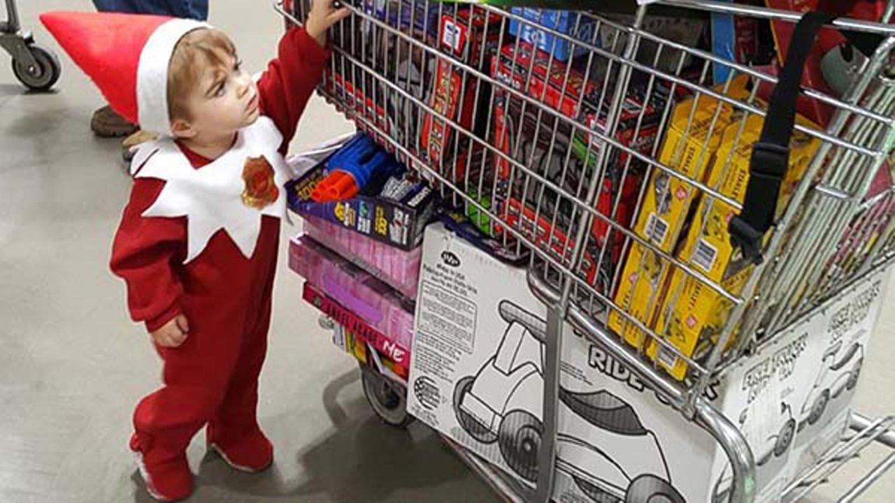 An Indiana mom is dressing her son up as the Elf on the Shelf to raise money to buy toys for kids in need.
