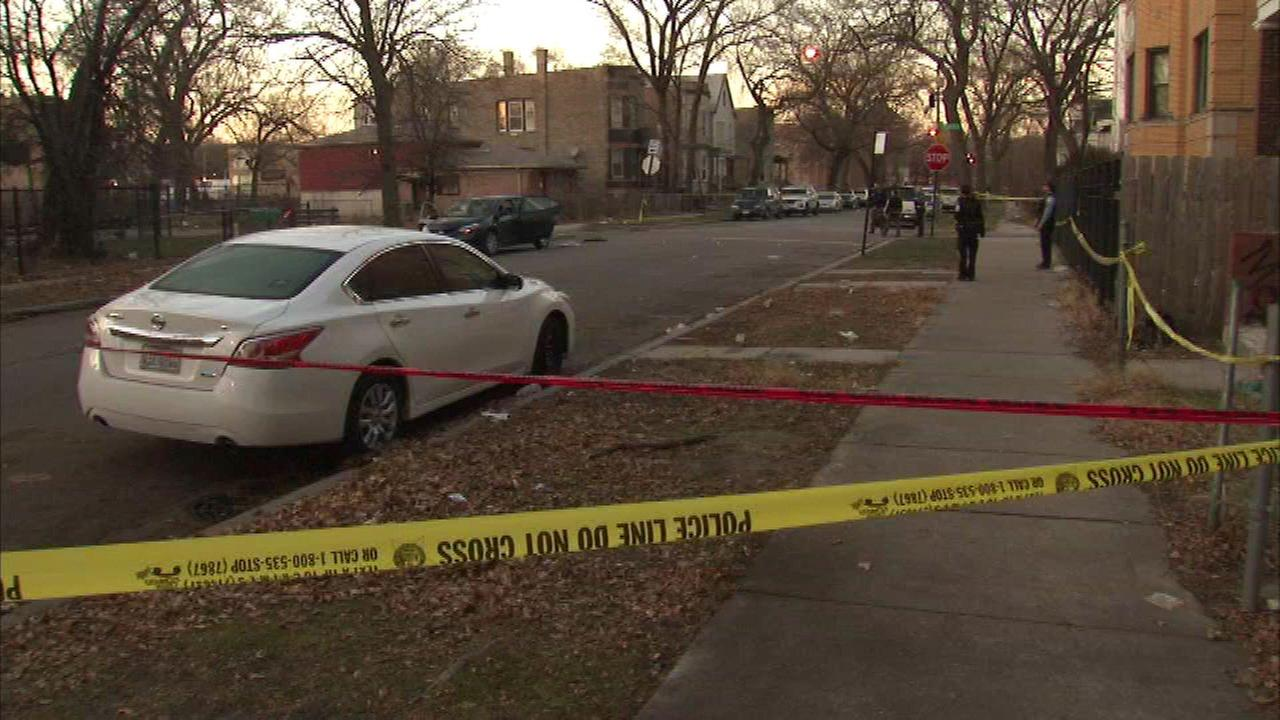 A man and woman were shot while sitting in a car int he 5600-block of South Emerald Avenue Saturday.