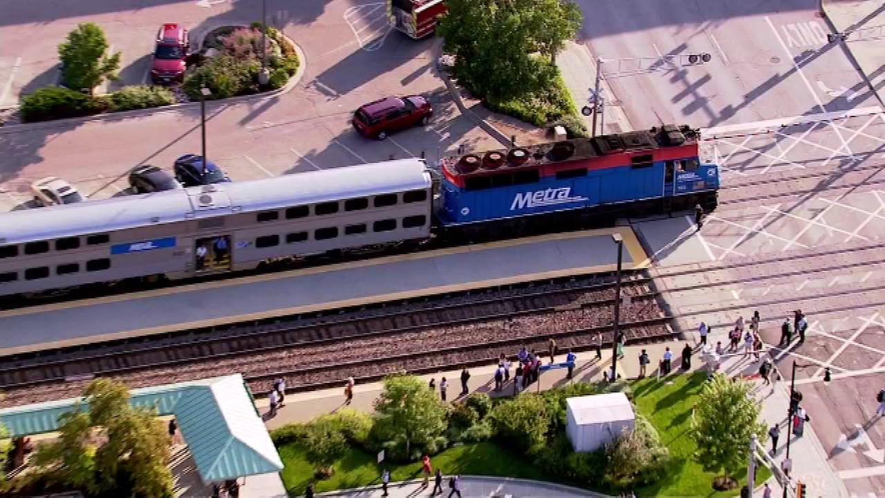 A pedestrian was struck by a train Tuesday afternoon in northwest suburban Des Plaines, Metra officials said.