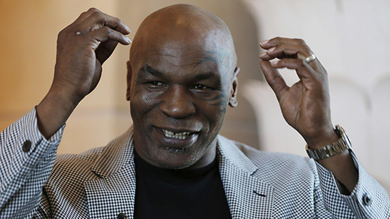 File - In this May 4, 2017 file photo, Mike Tyson speaks during an interview with The Associated Press, in Dubai, United Arab Emirates.