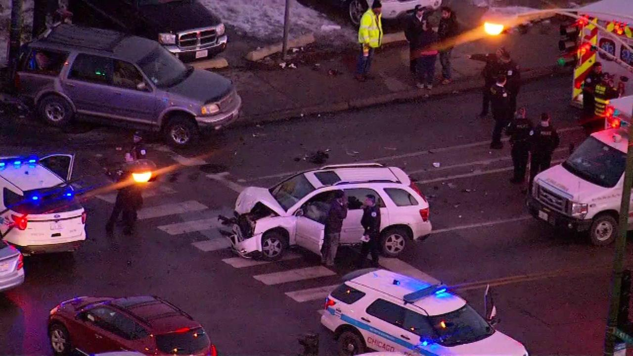 Two young boys were critically injured Monday afternoon after being ejected from a car during a crash on Chicagos South Side, Chicago police said.