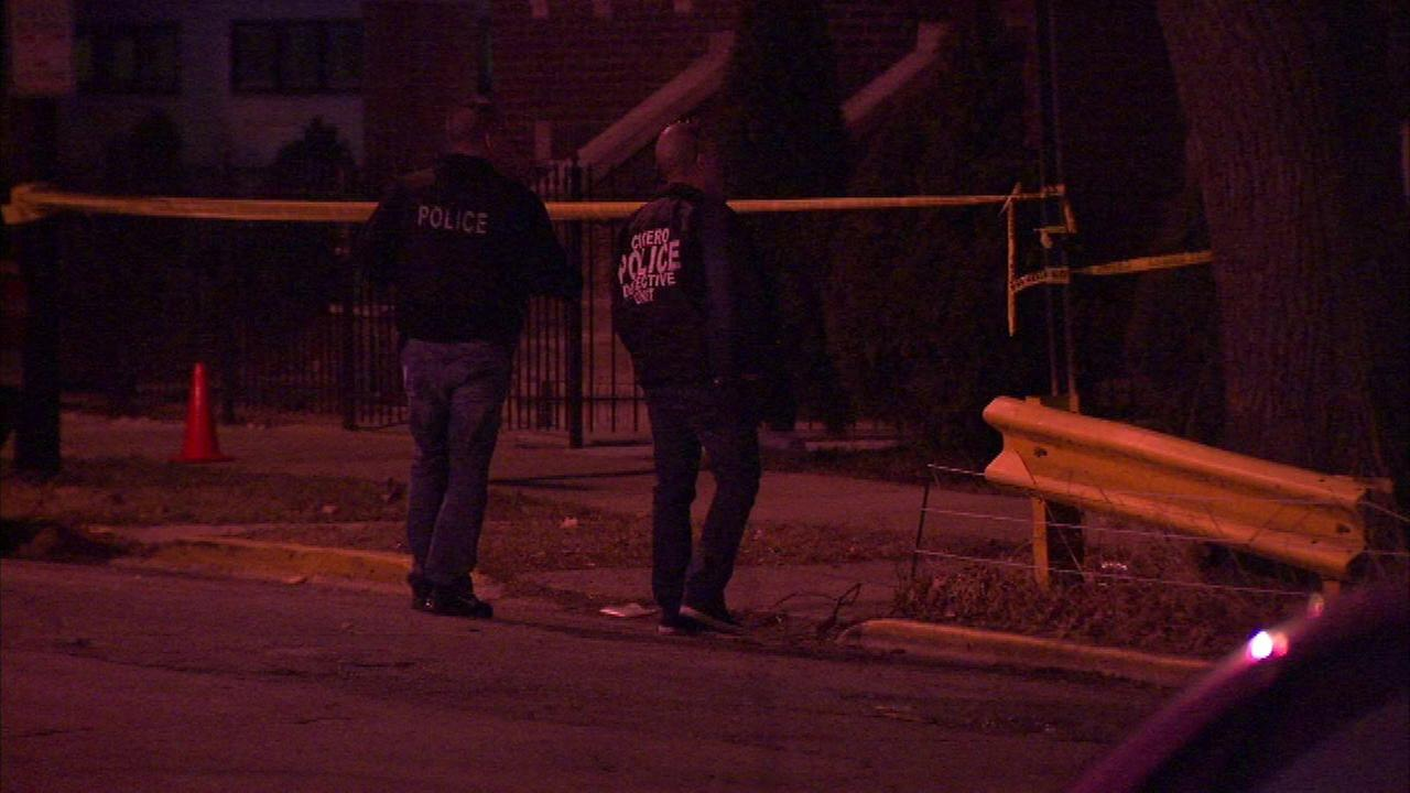 A woman was shot multiple times inside a Cicero home Sunday.