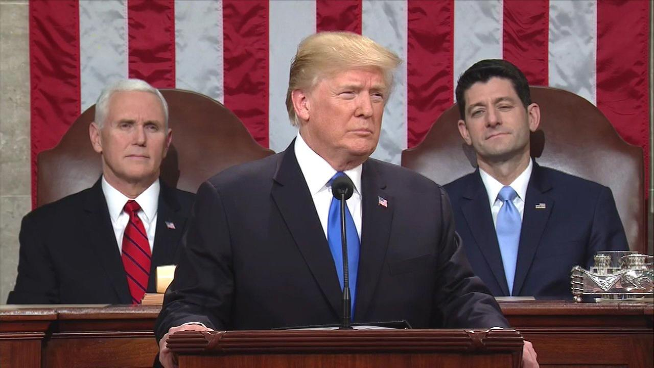FACT CHECK: Trump's State of the Union stretches on taxes, energy