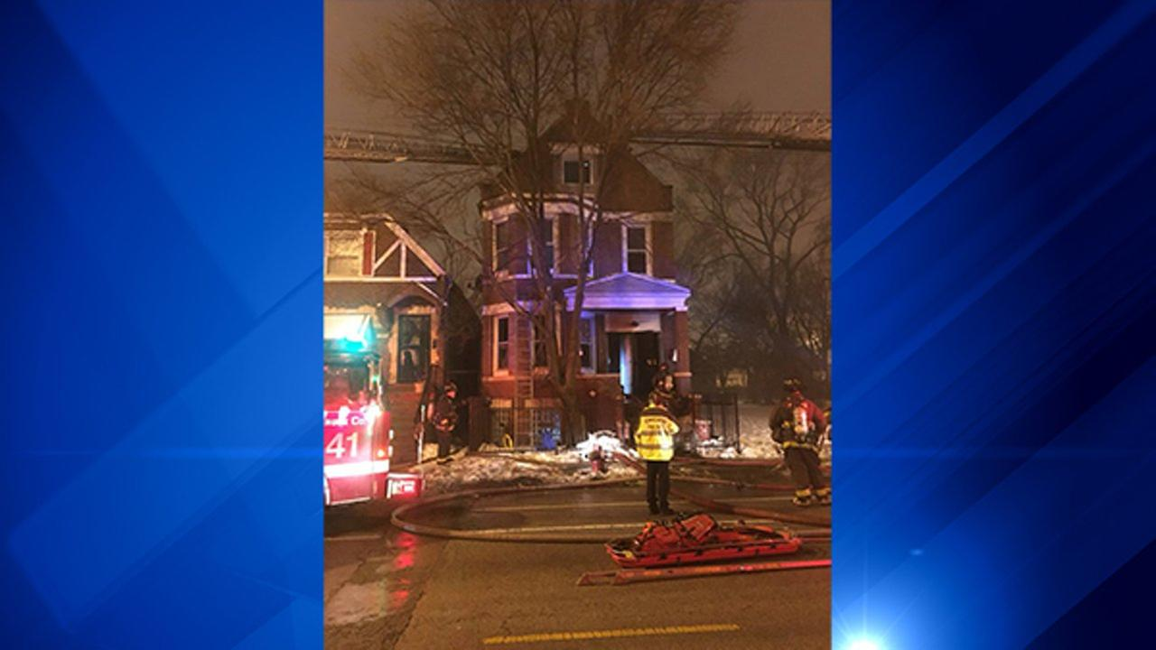 Baby critically injured after Englewood house fire