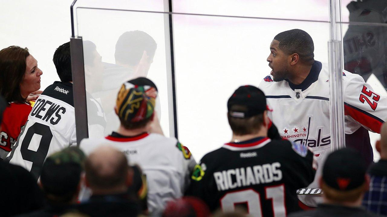 Fans removed from Blackhawks game for remarks aimed at black player