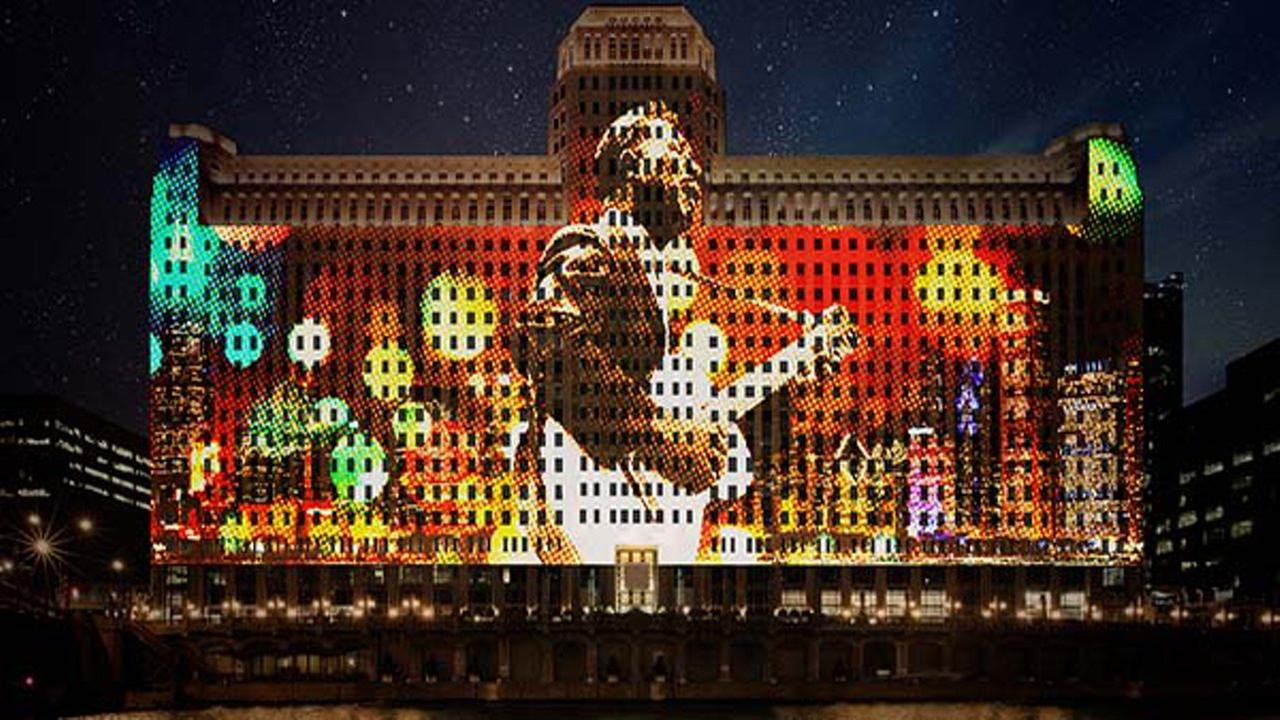 Rendering of Art on theMart display.