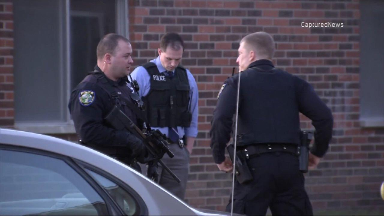 Police in Oswego Township investigate a stabbing Monday.