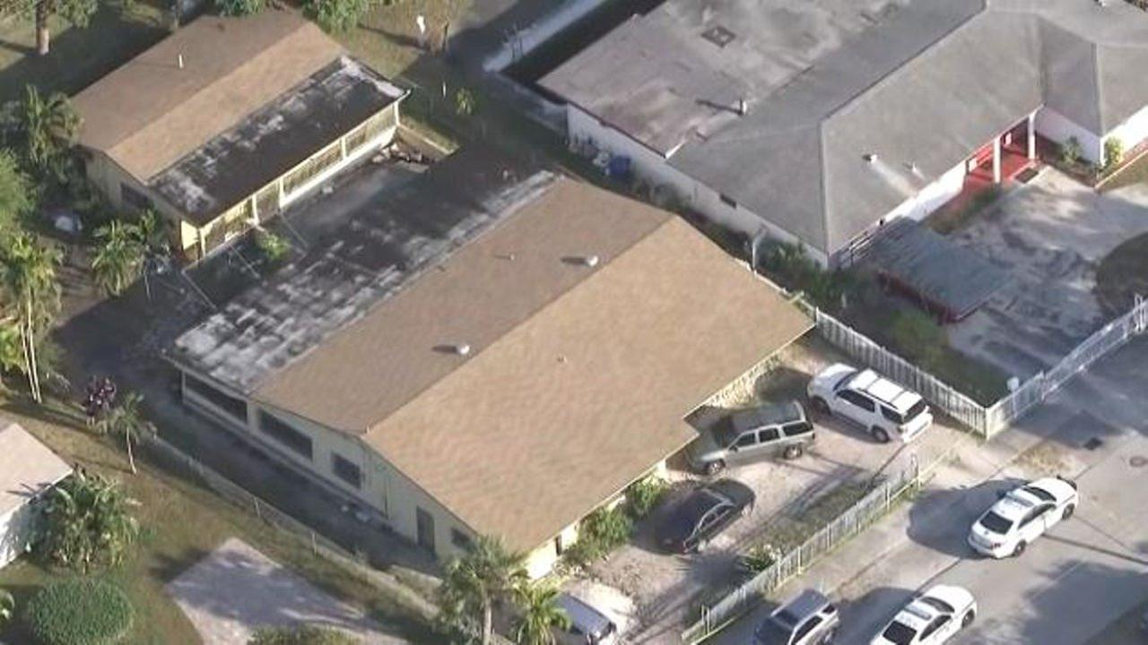 A child died Wednesday after being locked inside a car at a shopping plaza, Miami-Dade police said.