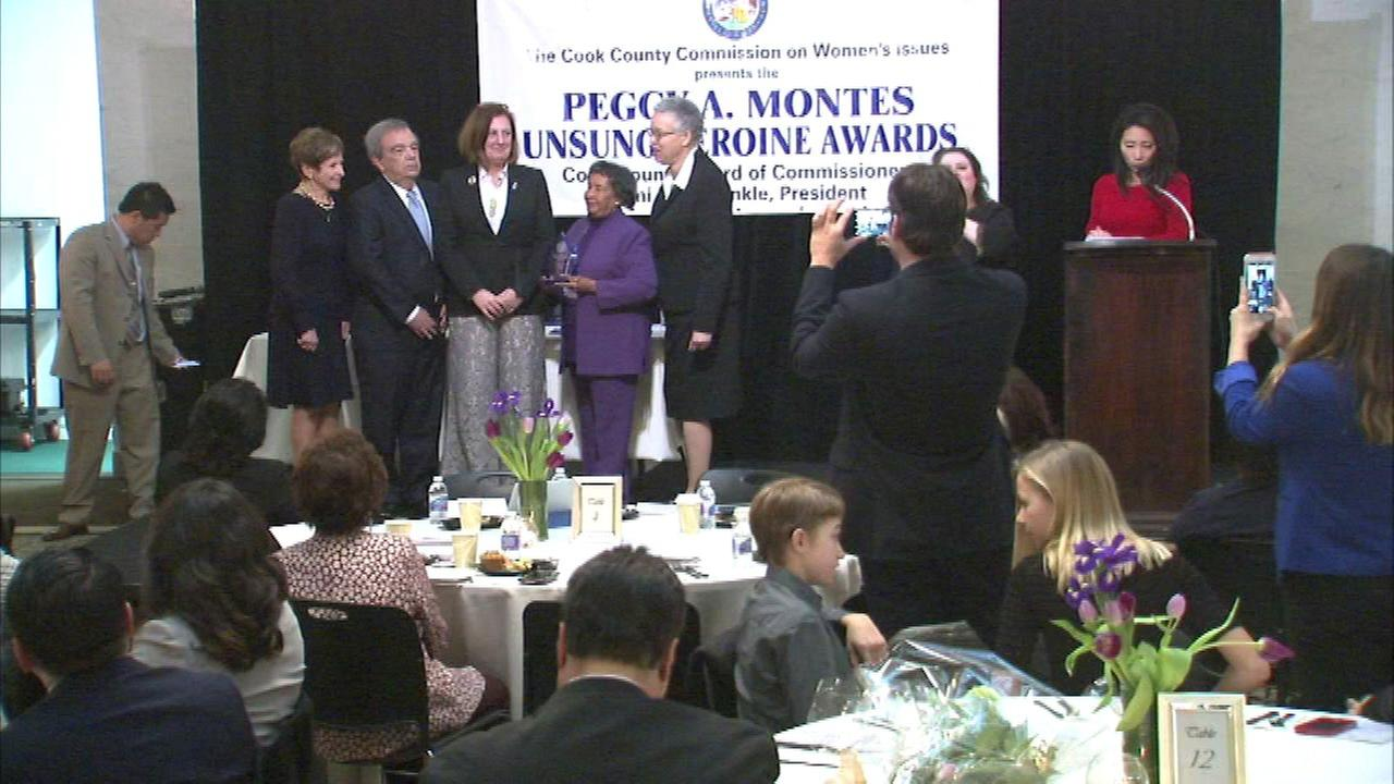 Honorees at the 2018 Peggy A. Montes Unsung Heroine Award breakfast/
