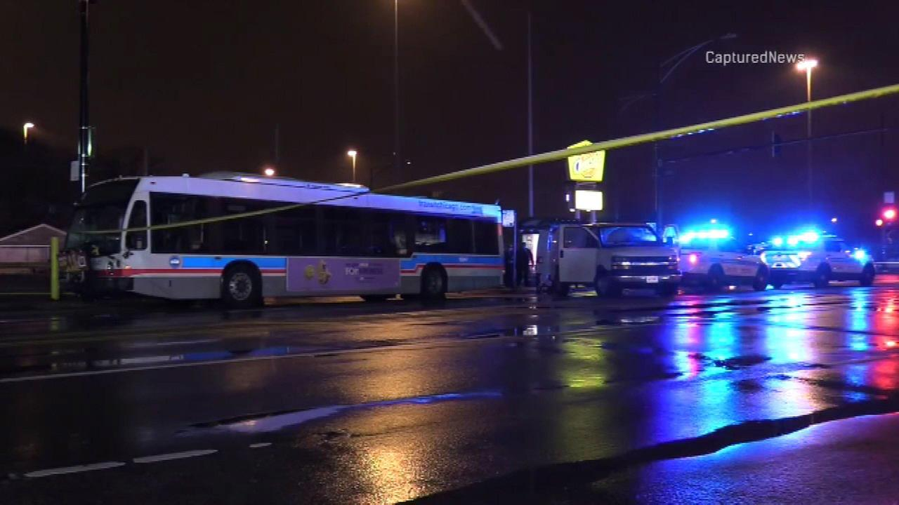 A woman was killed after being hit by a CTA bus in the first block of west 79th Street Tuesday night.