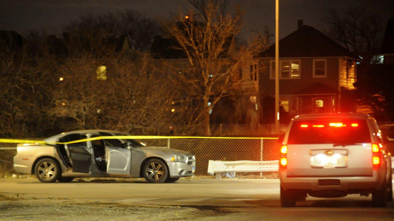 A man was shot Thursday night while driving west on the Eisenhower Expressway.
