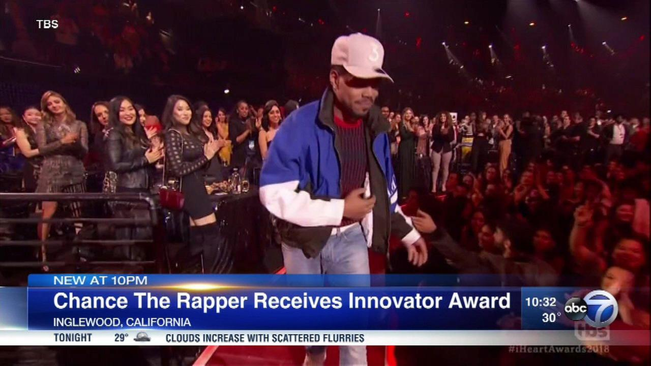 Chance the Rapper at the I Heart Radio awards.