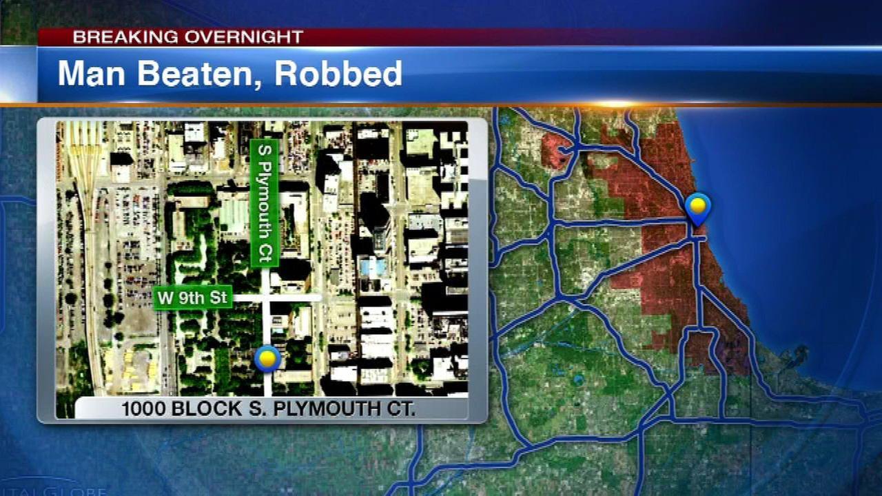 Man walking in Loop beaten, robbed