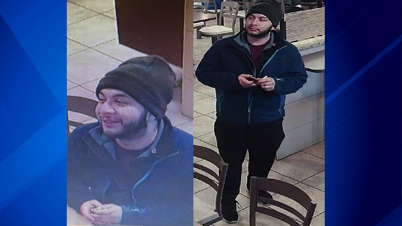 Surveillance images of a man police say exposed himself and asked a 15-year-old girl to perform sex acts at a North Side restaurant Wednesday.