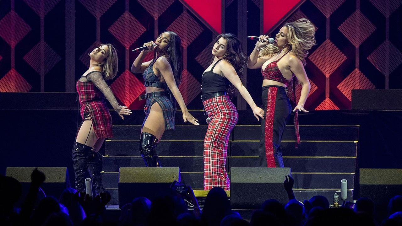Ally Brooke, from left, Normani Kordei, Lauren Jauregui and Dinah Jane of Fifth Harmony perform at Y100s Jingle Ball at the BB&T Center on Sunday, Dec. 17, 2017, in Sunrise, Fla.