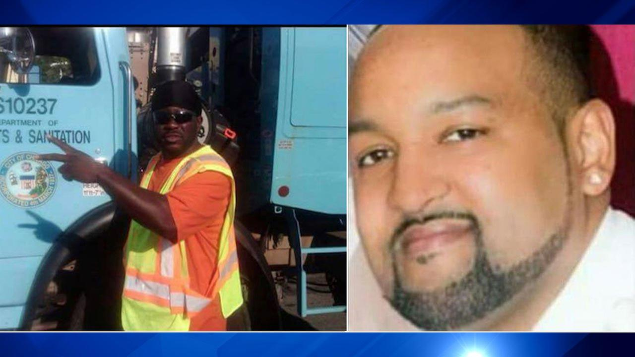 Darnell Simmons (left) and Terrell Jones, both City of Chicago employees, were shot to death in separate incidents over the weekend.