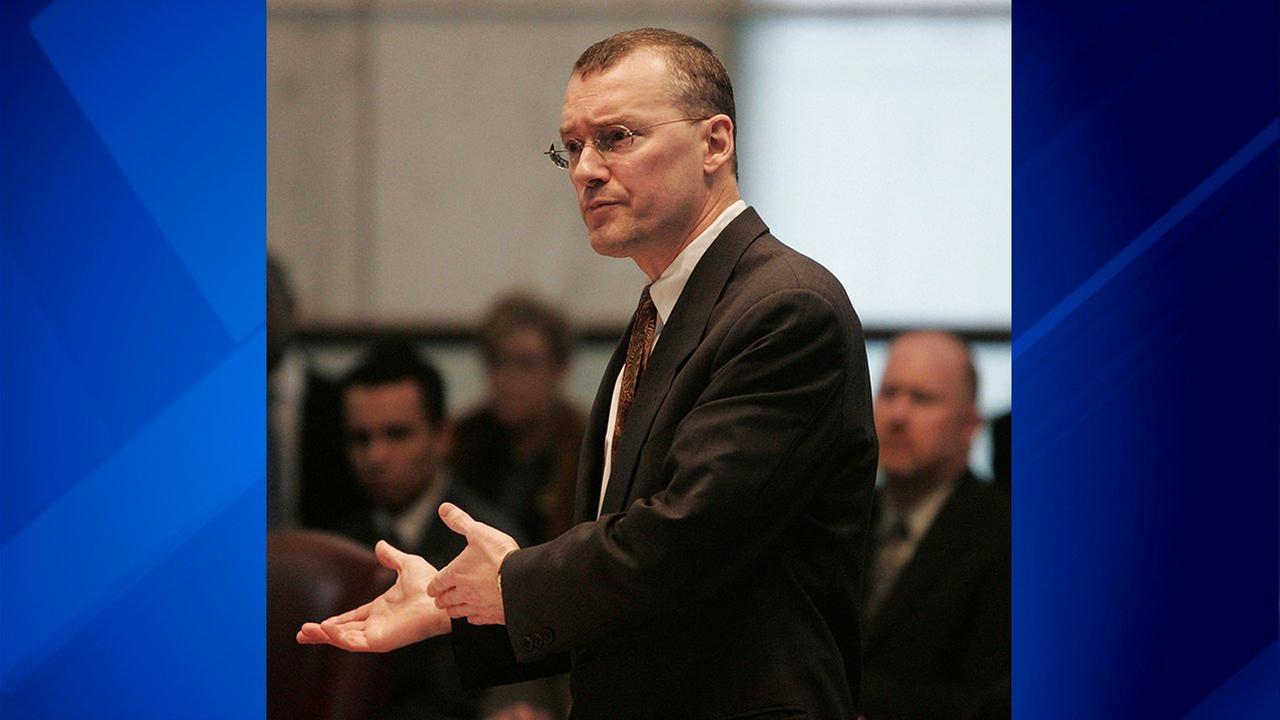 FILE - In this Feb. 15, 2006, file photo, Attorney David S. Buckel makes arguments in favor of gay marriage at the New Jersey Supreme Court in Trenton, N.J.