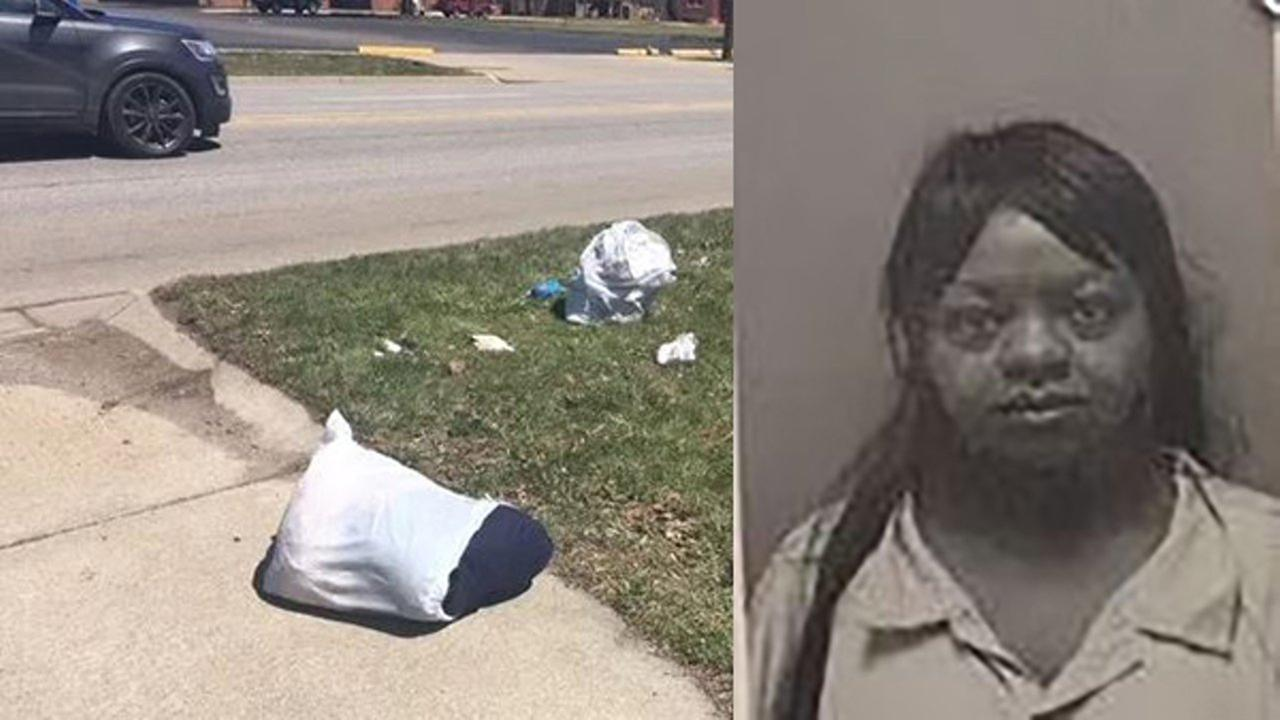 Katrina Childress was arrested after she allegedly put two infant girls in a suitcase and left them by the road like garbage.