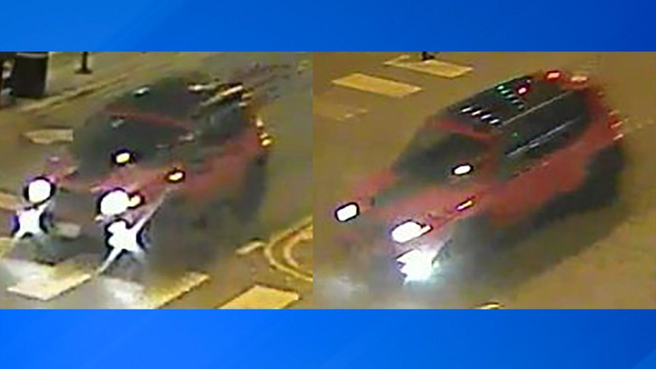 Surveillance images of the suspected vehicle in a fatal hit-and-run crash in Lakeview Thursday night.