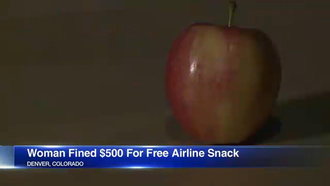 A Colorado woman was fined $500 by customs over an apple in her bag.